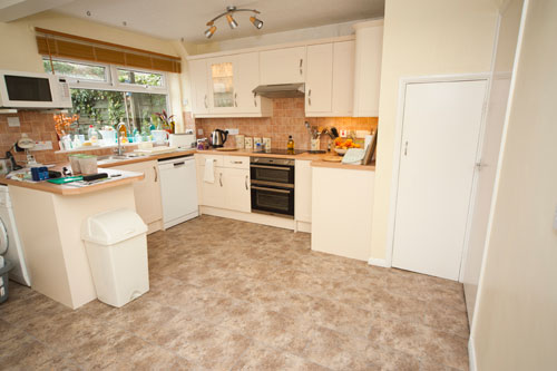 Kitchen with vinyl Polyflor tiles